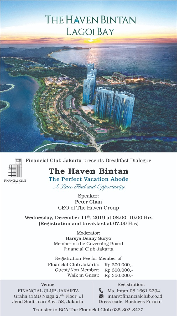 """Breakfast Dialogue """"The Haven Bintan, The Perfect Vacation Abode, A Rare Find and Opportunity&q"""