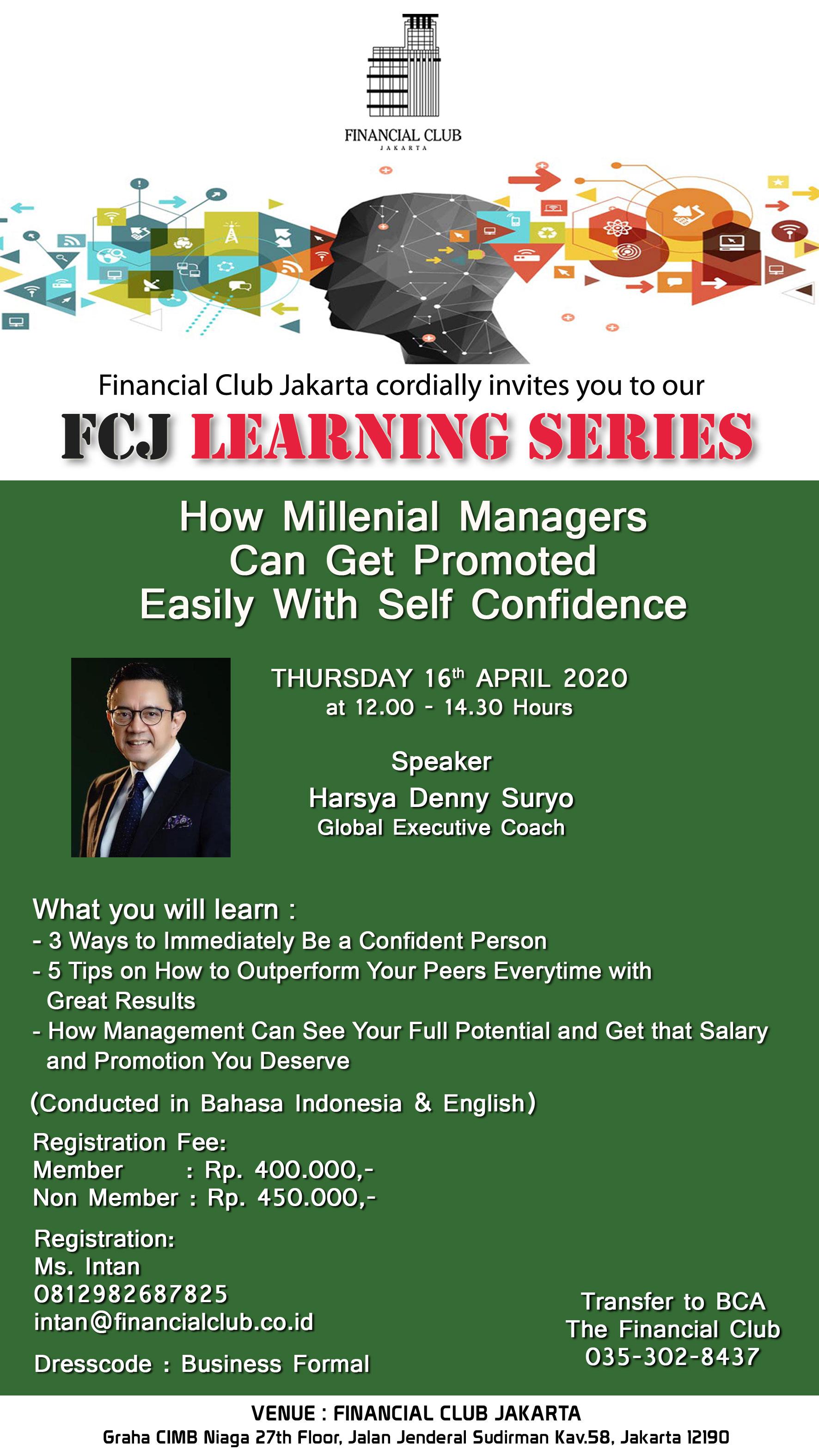 FCJ Learning Series, Thursday, 16th April 2020