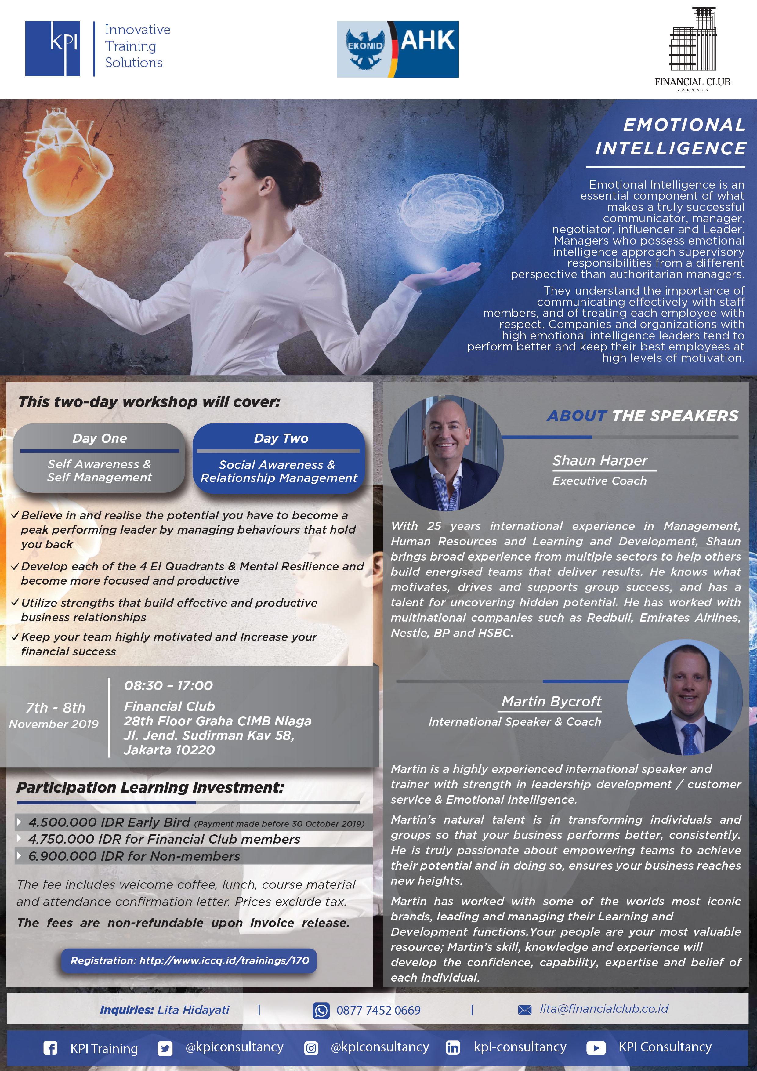 """KPI """"Emotional Intelligence"""" 7th - 8th November 2019"""