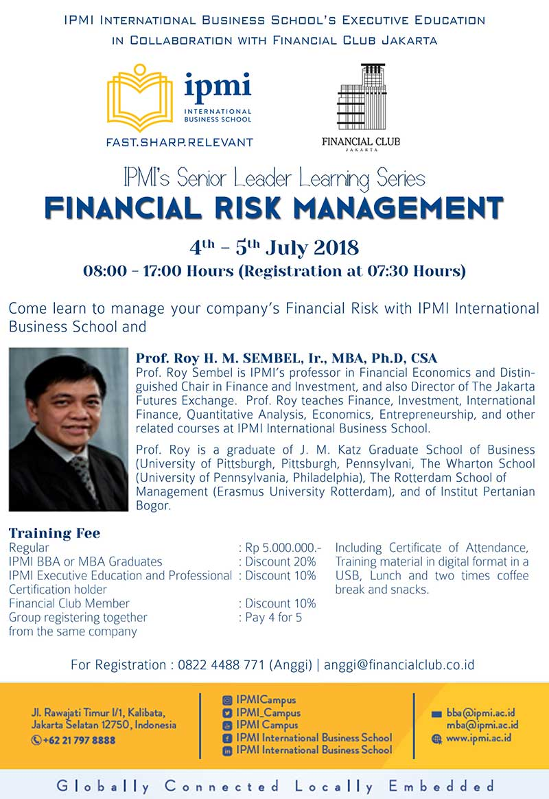 IPMI's Senior Leader Learning Series | Events | Financial Club